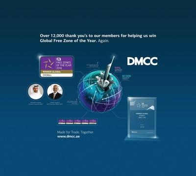 DMCC Global Free Zone of the Year Infographic. (PRNewsFoto/DMCC)