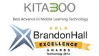 Kitaboo, wins GOLD at the Brandon Hall Technology Awards for Best Advance in Mobile Learning Technology