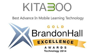 Kitaboo, wins GOLD at the Brandon Hall Technology Awards for Best Advance in Mobile Learning Technology (PRNewsFoto/Hurix Systems and Kitaboo)