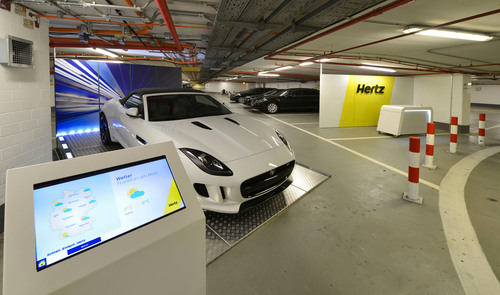 Hertz brings its global car rental revolution to Frankfurt Airport with a high tech makeover and ...