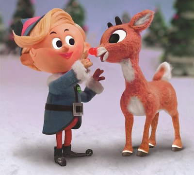 Hermey the Elf with Rudolph the Red-Nosed Reindeer