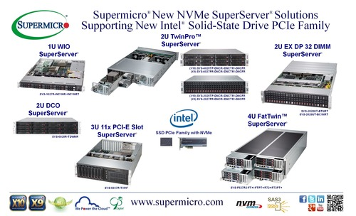 Supermicro(R) New NVMe Server Solutions Support Intel(R) Solid-State Drive PCIe Family (PRNewsFoto/Super Micro ...