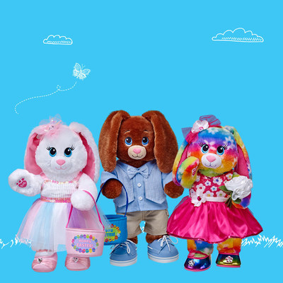 Build-A-Bear's 2015 Easter Collection features an assortment of customizable furry friends with unique personalization options, from sounds to accessories. Bright Blooms Bunny, Chocolate Bunny and Marshmallow Bunny are available fully accessorized or can be customized by gift givers.