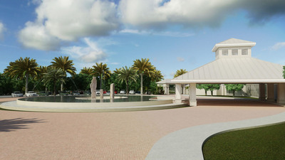 A $15 million construction improvement plan for St. Andrews Country Club of Boca Raton includes a contemporary club entry featuring a reflective pool, luminar jets, bubbling water columns and more. The complete redesign consists of multiple areas including the clubhouse, two restaurants, main entry features and landscaping, and the recreation and aquatic center. The construction improvement plan is expected to take three phases of development with a target completion date of November 2014. A video of the club construction improvement plan is available at www.standrewscc.com.  (PRNewsFoto/St. Andrews Country Club)
