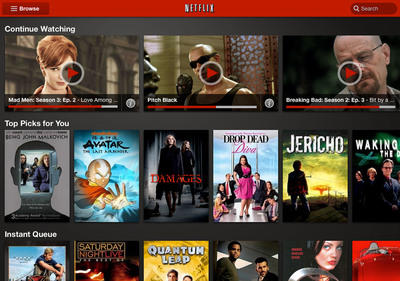 The New Netflix Android User Interface.  (PRNewsFoto/Netflix, Inc.)