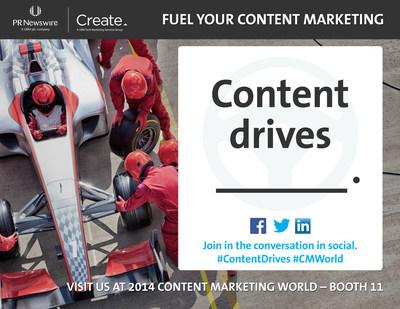 PR Newswire and UBM Tech Create Proudly Co-Sponsor Content Marketing World 2014 (PRNewsFoto/PR Newswire Association LLC)