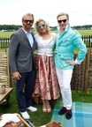 (L-R) Alistair Guy, Natalie Coyle and Henry Conway attend The Royal Salute Coronation Cup at Guards Polo Club in Windsor Great Park on July 25, 2015 in Egham, England. (Photo by John Phillips/Getty Images for Royal Salute) (PRNewsFoto/Royal Salute) (PRNewsFoto/Royal Salute)