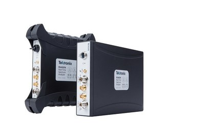 Tektronix has expanded its line of disruptive USB-based real-time spectrum analyzers with 4 new higher-performance models targeting design, spectrum management and wireless transmitter installation and maintenance applications. The new RSA500 and RSA600 series of analyzers offer frequency coverage from 9 kHz up to 7.5 GHz with 40 MHz acquisition bandwidth, a measurement dynamic range from -161 dBm/Hz Displayed Average Noise Level, and up to +30 dBm maximum input.