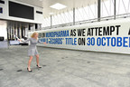 International Tennis Star Caroline Wozniacki unveils the new GUINNESS WORLD RECORDS(TM) title for the largest tennis ball mosaic by Mundipharma on 30 October 2015