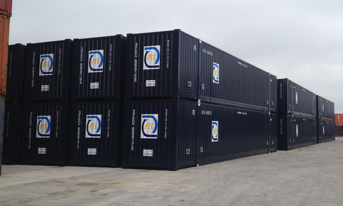 FEC's new 53ft containers purchased for expanding domestic business.  (PRNewsFoto/Florida East Coast Railway)