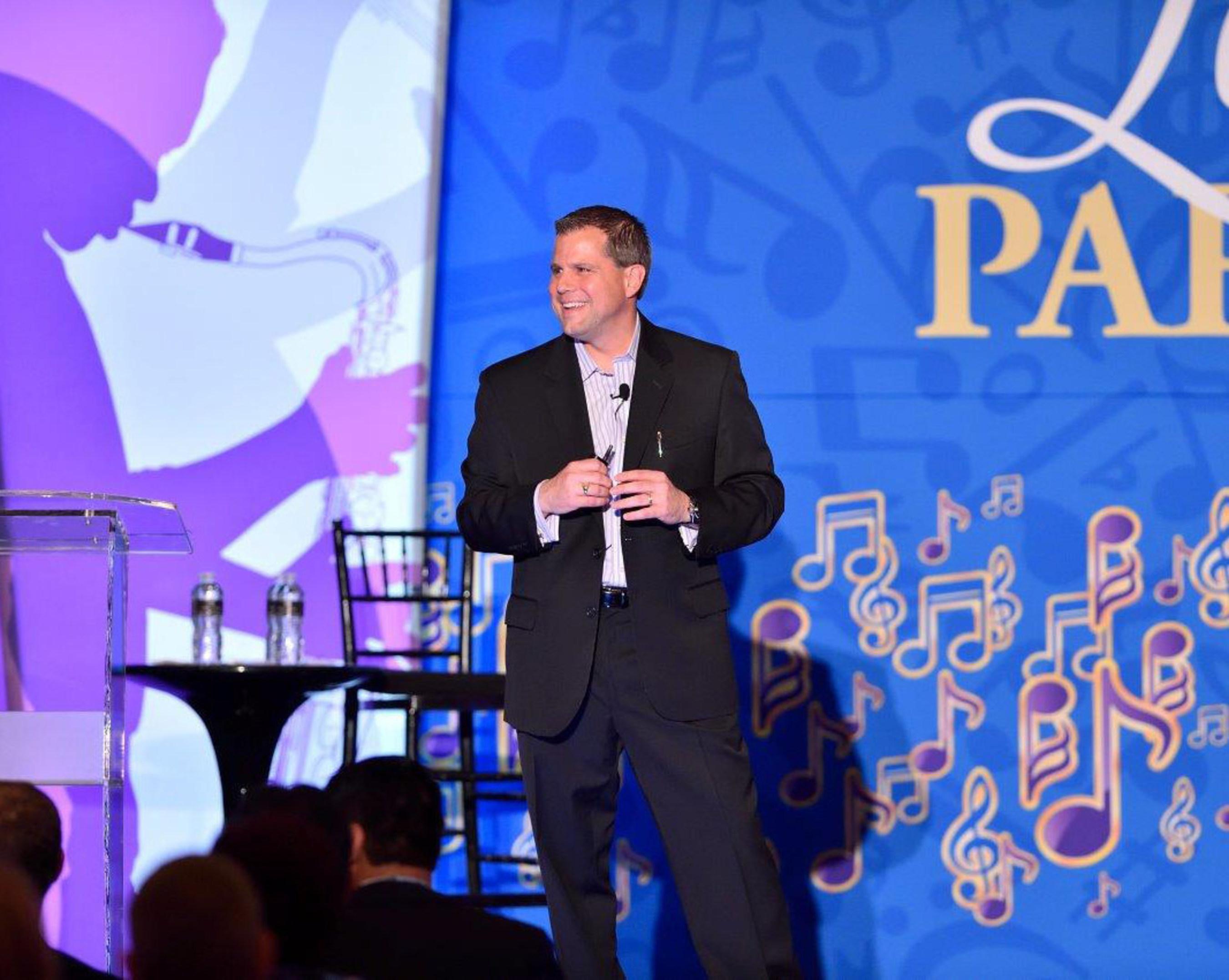 Scott Collins, senior vice president, Employer Services for Equifax, hosts FORUM 2015.