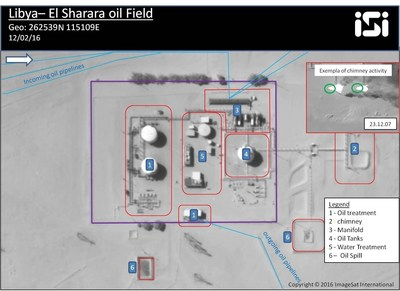 An image of a major oil facility in western Libya.The facility is complete, not damaged and looks maintained and in good condition. ISI's estimation is that the facility can be renewed in a short time.