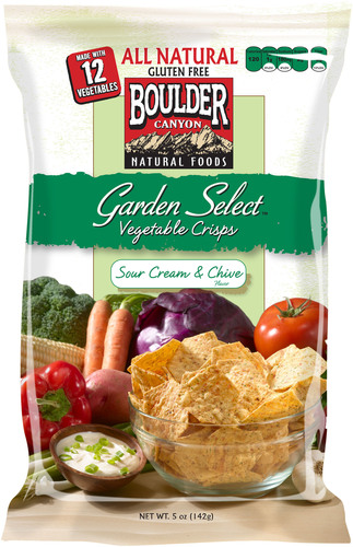 Boulder Canyon's New Garden Select Vegetable Crisp.  (PRNewsFoto/Inventure Foods)