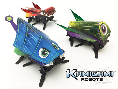 Kamigami: The world's first origami-style robot. Lightning fast, controlled with a smartphone, and fits in the palm of your hand.