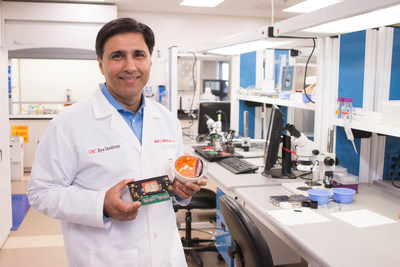 Mark S. Humayun, MD, PhD, co-director of the USC Eye Institute and creator of the Argus II retinal implant (seen in photo), to be awarded National Medal of Technology and Innovation by President Obama