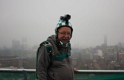 Iconic British TV Weatherman Michael Fish BASE Jumps for Climate Change