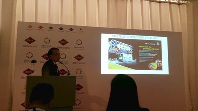"Thailand launches Bleisure Destination and Promotional Campaign for EU MICE travelers at IBTM World, Barcelona on 29 November 2016. TCEB has unveiled its latest and most ambitious global communication campaign, entitled ""Thailand CONNECT Your Vibrant Journey to Business Success"", promoting Thailand as an Ideal Bleisure Destination at the heart of ASEAN, and a leading global destination with unsurpassed standards of service, venues, facilities and leisure opportunities."