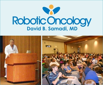 Dr. Samadi is the Vice Chairman, Department of Urology, and the Chief of Robotics and Minimally Invasive Surgery at The Mount Sinai Medical Center in New York City. As a board-certified urologist and an oncologist specializing in the diagnosis and treatment of urologic diseases, kidney cancer, bladder cancer, and prostate cancer, he also specializes in many advanced minimally invasive treatments for prostate cancer, including his newest robotic surgery procedure, SMART Surgery (Samadi Modified Advanced Robotic Technique).  (PRNewsFoto/www.RoboticOncology.com)