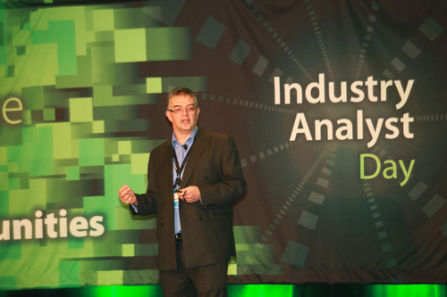 Ian Drew, executive vice president of Marketing and Business development at ARM, speaking at the LSI ...