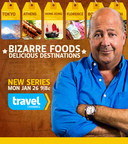 Travel Channel's BIZARRE FOODS: DELICIOUS DESTINATIONS - Premieres Jan 26 9PM ET (PRNewsFoto/Travel Channel)