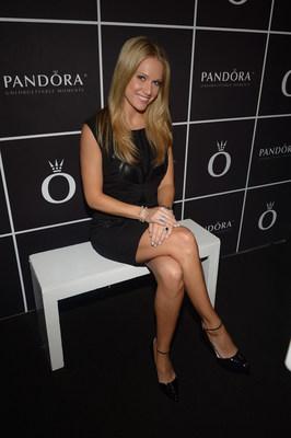 MLB Network host, Heidi Watney, at the PANDORA Jewelry Lounge at Mercedes Benz Fashion Week. (PRNewsFoto/PANDORA Jewelry)