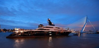 Equanimity (Y709) has the distinction of being the industry's first superyacht designed and built to be fully Passenger Yacht Code (PYC) compliant. (PRNewsFoto/Oceano)