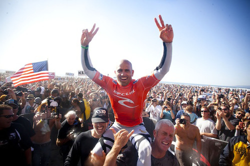 Quiksilver's Kelly Slater Wins 11th ASP World Title Today at the Rip Curl Pro Search San Francisco