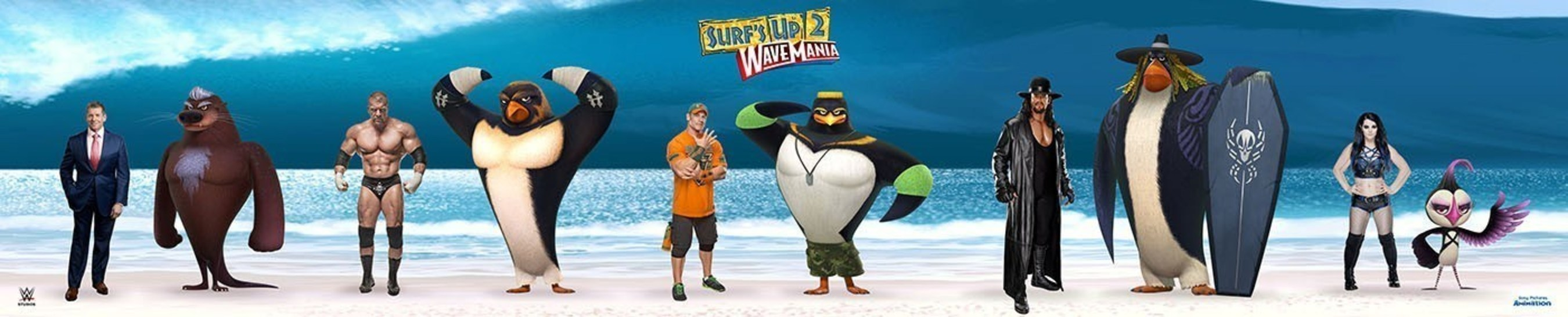 Sony Pictures Animation And WWE' Studios Catch A Wave Together In Surf's Up 2: WaveMania