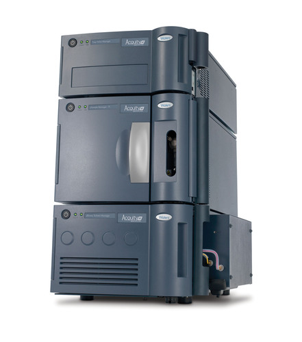 The Waters ACQUITY UPLC M-Class System is a nano- to microscale UltraPerformance LC(R) (UPLC(R)) system rated ...