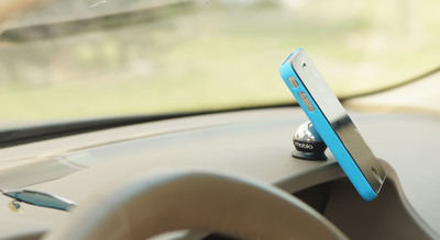 Low-profile cell phone car mount from Mobio.  (PRNewsFoto/Mobio)