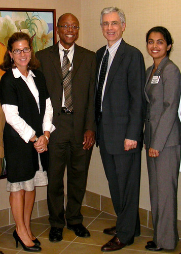 Celebrating the accreditation received for the new NYMC Phelps Family Medicine Residency Program are (l to r) ...