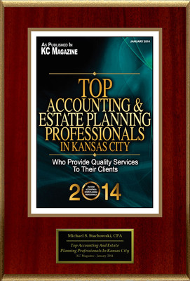 "Michael S. Stachowski, CPA Selected For ""Top Accounting And Estate Planning Professionals In Kansas City"". (PRNewsFoto/American Registry) (PRNewsFoto/AMERICAN REGISTRY)"
