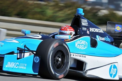No. 77 Schmidt-Peterson-HP Motorsports driven by Simon Pagenaud, sponsored by Magneti-Marelli in IZOD IndyCar ...