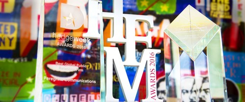 Peregrine adds to hedge fund marketing and communications awards collection (PRNewsFoto/Peregrine Communications)