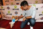 Erik Valdez with Jiff at Get a Pet Event