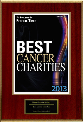 """Breast Cancer Society Selected For """"Best Cancer Charities"""". (PRNewsFoto/Breast Cancer Society) (PRNewsFoto/BREAST CANCER SOCIETY)"""