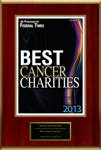 """Breast Cancer Society Selected For """"Best Cancer Charities"""". (PRNewsFoto/Breast Cancer Society) ..."""