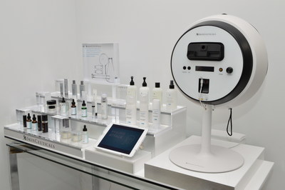 SkinCeuticals SkinScope and products displayed at Russak+ Aesthetic Center.