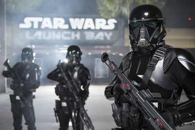 """Starting Dec. 16, guests at Disney's Hollywood Studios will be able to see AWR Troopers from """"Rogue One: A Star Wars Story"""" when they join the popular daytime stage show """"Star Wars: A Galaxy Far, Far Away."""" Outfitted in their specialized Stormtrooper armor with a dark, ominous gleam, these soldiers serve as bodyguards and enforcers for Director Krennic, a highly-placed officer within the Advance Weapons Research (AWR) division of the Empire. A new Troopers sequence will join the show, which runs daily at Disney's Hollywood Studios at Walt Disney World Resort in Lake Buena Vista, Fla."""