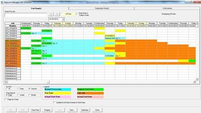 scheduling tools in excel