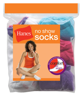 Hanes introduces socks that are seam-ingly perfect in every way. New Hanes Comfort Toe Seam Socks feature innovative patent-pending sewing technology to replace uncomfortable seams. (PRNewsFoto/Hanes, John Walsh)