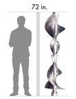 Comparing a 6-foot man and a large titanium part made with EBAM.