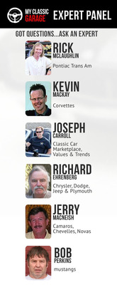 MyClassicGarage.com Expert Panel Answers Car Questions Free.  (PRNewsFoto/MyClassicGarage.com)