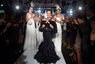 Fashion Designer Sue Wong and models on the runway at the Sue Wong Spring Transcendent Fashion Show.  (PRNewsFoto/Sue Wong)