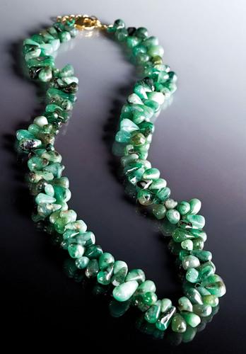 Stauer's Cayman Emerald Necklace, $79 available at www.stauer.com. (PRNewsFoto/Stauer Jewelry) ...