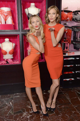 Victoria's Secret Angels Karlie Kloss and Candice Swanepoel Celebrate Bombshells' Day.  (PRNewsFoto/Victoria's Secret)