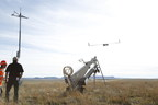 Insitu and BNSF officials launch ScanEagle during a commercial operation in New Mexico in October 2015