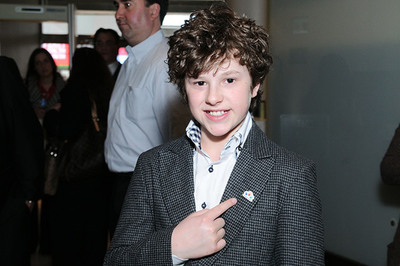 Nolan Gould, star of ABC's Modern Family, joins Hyundai Hope On Wheels during its National Launch in New York City. (PRNewsFoto/Hyundai Motor America) (PRNewsFoto/HYUNDAI MOTOR AMERICA)