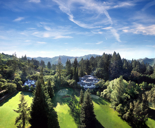 Aerial view of Meadowood Napa Valley.  (PRNewsFoto/Meadowood Napa Valley)