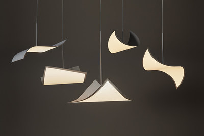 Pendant solution with 320x320mm flexible OLED light